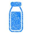 milk bottle grunge icon vector image