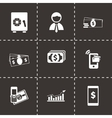 mobile banking icons set vector image