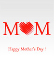 Mothers day greeting card in red vector image vector image