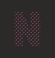 n dotted alphabet letter isolated on black vector image