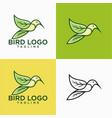 natural hummingbird logo design stock vector image