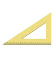 new design triangle icon realistic style vector image