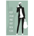 New york travel card vector image vector image