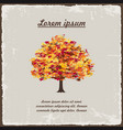 old autumn tree on vintage background vector image vector image