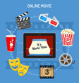 online movie concept vector image vector image