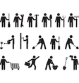 People pictogram activities vector image vector image