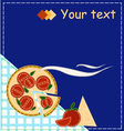 Pizza style patchwork for invitation vector image vector image