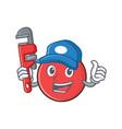 plumber bowling ball character cartoon vector image vector image