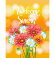 poster advertising of spring flowers Gerber vector image vector image