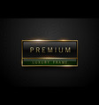 premium black green label with golden frame on vector image vector image