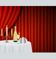 restaurant poster banner design template vector image vector image