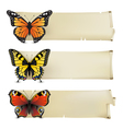 retro butterfly banners1 vector image vector image