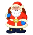 Santa Claus with bag of gifts vector image vector image