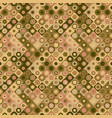 seamless circle mosaic pattern background vector image vector image