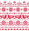 seamless scandinavian olk art pattern vector image vector image