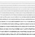 set horizontal line doodles seismic waves vector image