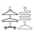 set of coat hanger vector image