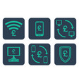 set of icons about online payments with pound vector image vector image