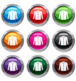 shirt set 9 collection vector image vector image