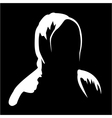 Silhouette of anonymous 2 vector image vector image