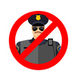 Stop cop It is forbidden by police Strikethrough vector image vector image