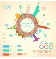 Travel Infographic Chart vector image