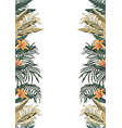 tropical border a4 layout white background vector image