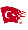 Turkey flag vector image vector image