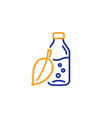 water bottle line icon soda aqua sign vector image
