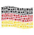 waving germany flag pattern of war text items vector image