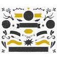 gold and black vintage style design elements set vector image