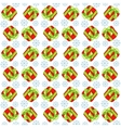 Christmas presents seamless pattern vector image