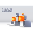 3d abstract digital cubes background vector image