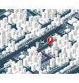 3d map isometric city vector image vector image