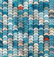 abstract blue circle pattern vector image vector image