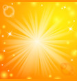 Abstract magic light orange background vector image vector image