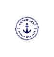 anchor nautical marine circle seal logo design vector image vector image