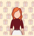 avatar young woman icon vector image