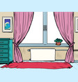 background apartment interior room with window vector image