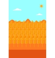Background of wheat field vector image vector image