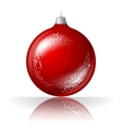 beautiful red christmas ball vector image