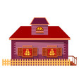 building facade exterior house in village vector image