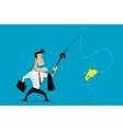 Businessman fishing vector image vector image