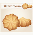 butter cookies cartoon icon vector image vector image