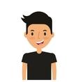 cartoon young man icon vector image vector image