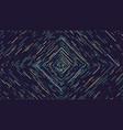 color square cyber tunnel futuristic abstract vector image