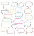 Colored Line Speech Bubbles vector image