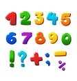colorful numbers set vector image vector image