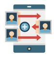 customer traffic flat vector image