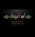 digital alphabet font music with colorful vector image